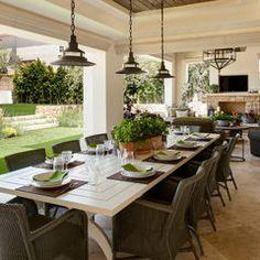 mediterranean patio by Tomaro Design Group