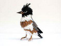 PAPER BIRD SCULPTURES BY DIANA BELTRAN HERRERA #Bird #AnimalArt #Art