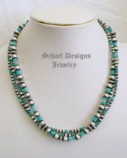 Turquoise Sterling Silver Navajo Pearl 3 Strand Necklace | Upscale online Southwestern Turquoise Native American Equine Jewelry Gallery Boutique | New Mexico