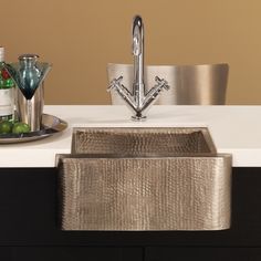 Native Trails Cabana Undermount Apron Bar & Prep Sink :: Kitchen Bar Sink from Home & Stone Farmhouse Bar Sinks, Modern Farmhouse Kitchens, Outdoor Kitchens, Rustic Kitchen, Undermount Bar Sink, Sink Faucets, Basins, Copper Bar, Copper Sinks
