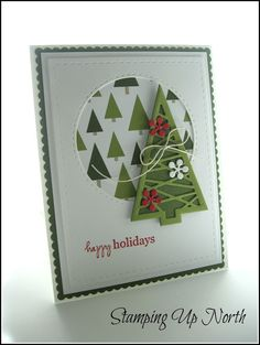 stamping up north with laurie: Stampin' Up Merry Moments Christmas Card