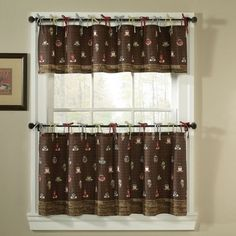 Elegant Coffee Themed Kitchen Decor Curtains