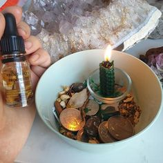 Make A Money Bowl – The Spiritual Toolbox Jar Spells, Candle Spells, Candle Magic, Crystals For Wealth, Herbal Magic, Magic Herbs, Money Spells That Work, Prosperity Spell, Witchcraft Spell Books