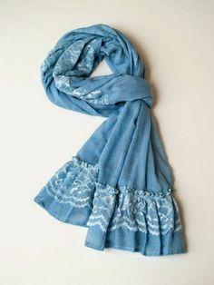 Návod na vlastní šátek s krajkou