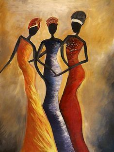 Black art for African American Art collectors, from some of the best artists. Featuring a wide range of artwork from framed prints & pictures to African art. African Art Paintings, African Artwork, African Prints, Oil Paintings, Afrique Art, Queen Art, African American Art, African Women, Afro Art