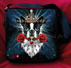 * Schicke Tragetasche / Schultertasche mit Boston Terrier-Design. *    Mit dieser Tasche fällst Du garantiert auf. Eine schicke und strapazierfähige T
