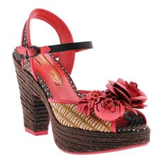 280f8dc908d8 Playful dots and pretty posies make this super cute. New Coral Fancy Me  Platform Sandal by Poetic Licence