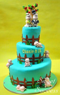 Piggy Wedding Cake