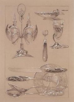 Alphonse Mucha - Study for plate 69 of ''Documents Decoratifs''