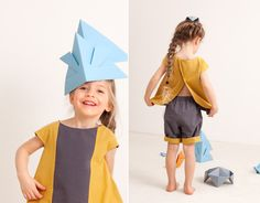 Geometry, colour and fun! Original and comfortable clothes for girls
