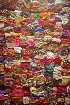 These stacks are art in themselves with all the color....have no place to put it all but would love this stash
