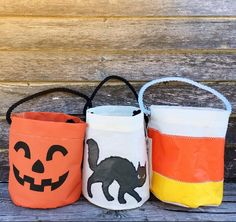 HALLOWEEN HAS ARRIVED!   Jack O'Lantern + Black Cat + Candy Corn  Which Bucket Bag is your favorite?