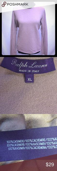 Ralph Lauren Purple Label sweater 100% cashmere long sleeve sweater Ralph Lauren Purple Label Sweaters Crew & Scoop Necks