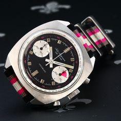 Rare 1970's JULES JURGENSEN Vintage Racing Chronograph Watch Valjoux Cal. 7733