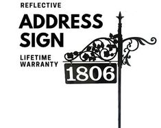 Double Sided Reflective Address Signs Art for by NiteBriteSigns Mailbox Makeover, Address Signs, Gifts For Mom, Etsy Seller, Art, Art Background, Mom Presents, Presents For Mom, Kunst