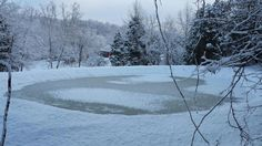 Bracken County Ky. Snow and frozen pond on my home farm.