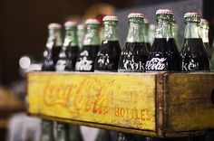 Coca Cola in glass bottles that we could return for money!  oh my...mom and dad would usually let us have this money...was it 5 cents...