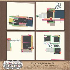 Iffy's Templates Set.2 - Digital Scrapbook Templates by  @Tiffany Wheeler  #sketches