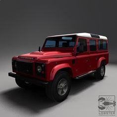 red land rover defender 110 - Google Search