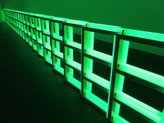 Green Neon fence