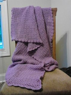 This is Molly's Afghan before I added the ribbon. It's beautiful either way in my opinion.