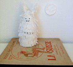 paper mache figurine by molekuele. Paper Clay, Paper Mache, Paper Art, Sculpture Clay, Sculptures, Masks, Objects, Dolls, Artist
