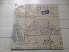 Tegel tableau 60x60 cm