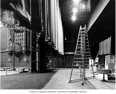 Fox Theatre backstage looking west, 1991