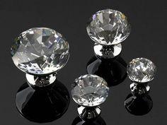 Glass Knobs / Crystal Dresser Knob Drawer Knobs by LynnsHardware