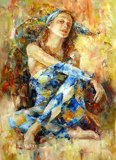 Николай Федяев Impressionist Art, Impressionism, Clowns, Pantomime, Christmas Art, Figurative Art, Painting Inspiration, Bold Colors, Surreal Art