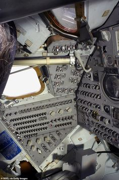 The inside of Apollo The craft, which had the call sign Charlie Brown, traveled appro. Apollo Spacecraft, Nasa Pictures, Apollo 11 Moon Landing, Apollo Space Program, Science Festival, Astronomy Science, Aviation World, Apollo Missions, Cool Technology