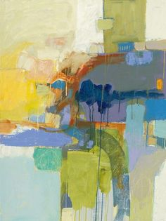 Bob Hunt's abstract paintings are filled with vibrant colors and texture. Bob puts an emphasis on the actual process and physical activity of painting.