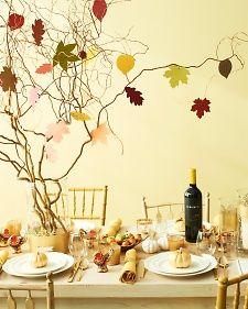 Thanksgiving Ideas By Darcy Miller for Martha Stewart - Great!