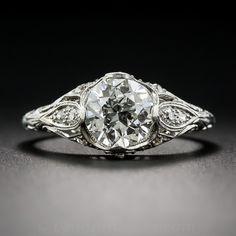 1.42 Carat Diamond Art Deco Engagement Ring GIA K-VVS2 - What's New