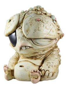 Artwork of Chris Ryniak. He LOOOVES his little monster creatures. Creepy Toys, Creepy Cute, Clay Monsters, Little Monsters, Cute Fantasy Creatures, Mythical Creatures, 3d Mode, Polymer Clay Animals, Bizarre
