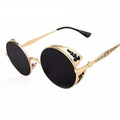 Cheap sunglass red, Buy Quality sunglasses vintage directly from China sunglasses 2010 Suppliers: AOFLY Steampunk Vintage Sunglass Fashion round sunglasses women brand designer metal carving sun glasses men oculos de sol Cool Glasses, Mens Glasses, Round Sunglasses, Mirrored Sunglasses, Sunglasses Women, Sunglasses Sale, Luxury Sunglasses, Lunette Glacier, Steampunk Sunglasses