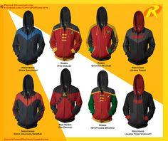OMFG TAKE MY MONEY BI**H!! AND LEAVE THOSE HOODIES!!!!! Robin Hoodie Concepts! by prathik.deviantart.com on @deviantART