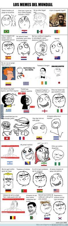 Los memes del mundial. Soccer World Cup Brasil 2014