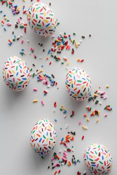 Confetti fun eggs! The 50 Best Ways to Dye & Decorate Easter Eggs