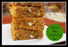 Butternut Squash White Chocolate Chip Bars - great for Thanksgiving leftovers!