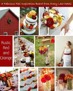 Creating a Fall Wedding Theme | The Pretty Pear Bride  http://prettypearbride.com/creating-a-fall-wedding-theme/