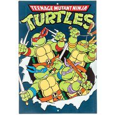 Teenage Mutant Ninja Turtles Embossed Tin Sign