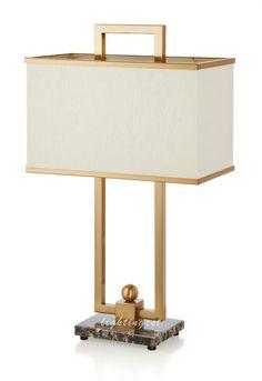最灯饰现代奢华美式简约大气大理石底座设计师样板房台灯