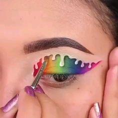 Smokey Eye Makeup Tutorial, Eye Makeup Steps, Makeup Eye Looks, Eye Makeup Art, Crazy Makeup, Disney Eye Makeup, Eyeliner Tutorial, Makeup Artistry, Eye Tutorial