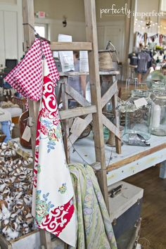 vintage linens: napkins and tablecloths | chapel market | perfectly imperfect