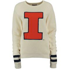 Illinois Fighting Illini Women's Cream Varsity Sweater