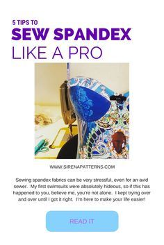 Here are my 5 tips for sewing spandex like a pro Learn to make your own swimwear with my step-by-step tutorials :0)