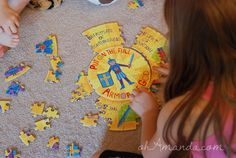 COOLEST puzzle ever: 3 circle puzzles in one! With the Armor of God scripture and pics on it! Sunday School Kids, School Days, School Stuff, Fun Learning, Teaching Kids, Kids Church, Church Ideas, Book Of Mormon Stories, Armor Of God