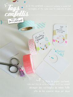 Tags confettis - DIY by Bohème Circus