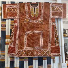 "Duncan Clarke on Instagram: ""Moving some things around at the shop. A rare woman's festival tunic from Maiduguri region, Nigeria, circa 1930-50, hand embroidered with…"" African Textiles, Tunic, Prints, Shopping, Instagram, Women, Fashion, Moda, Robe"